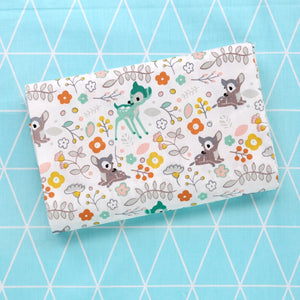 Printed Deer Kids Twill Cotton Fabric - 50x40cm