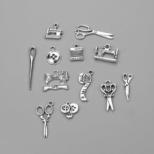 Mixed Alloy Sewing Charms 12pcs/Pack