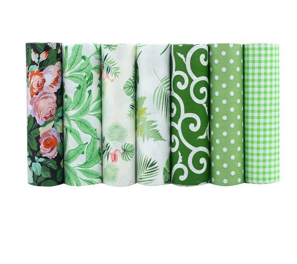 Assorted Print Touch of Green 7pcs/lot - 40x50cm