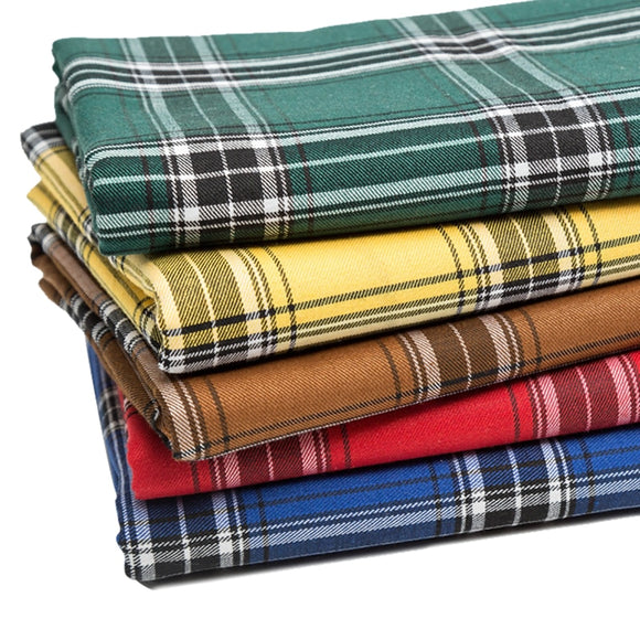 Plaid Poly Cotton Fabric - 50cm x 140cm