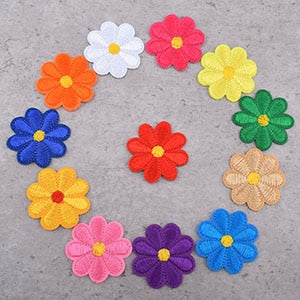 Colorful Flower Patches - 12pcs