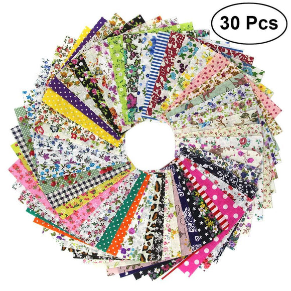 30pcs Craft Fabric 10x10cm