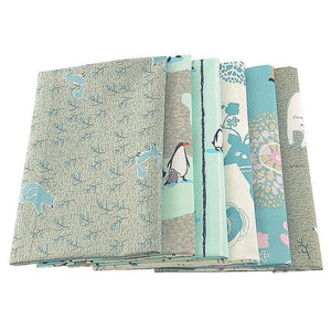 Ice Animals Print Twill Cotton Fabric - 40x50cm (6pcs/lot)