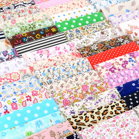 Mixed Design Craft Fabric - 10x10cm - 60pcs/Pack