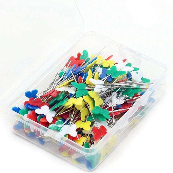 Multi-Color Butterfly Head Pins 100pcs/Pack
