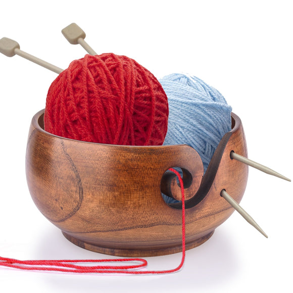 Wooden Yarn Storage Bowl