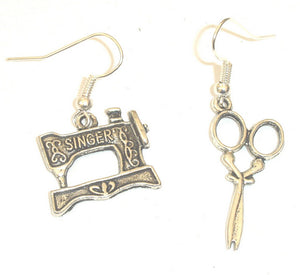 Sewing Machine & Scissor Earrings