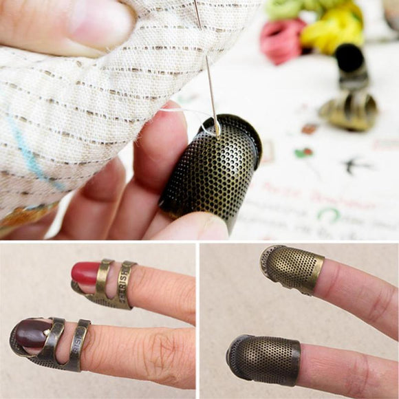 Retro Finger Protector Metal Thimble
