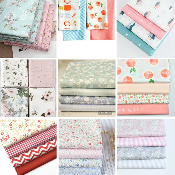 Assorted Print Fabric - 40x49cm (4pcs)