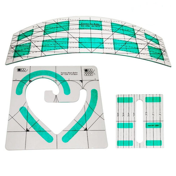 Non-Slip Quilting Ruler - 3pcs