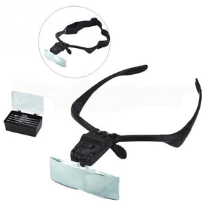 Headband Magnifier Glass With LED Light