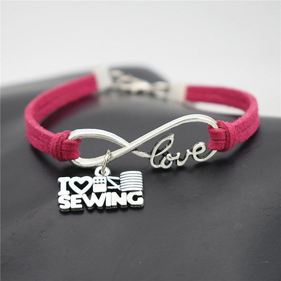 I Love Sewing Bracelet