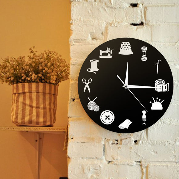 Quilters Wall Clock Decor