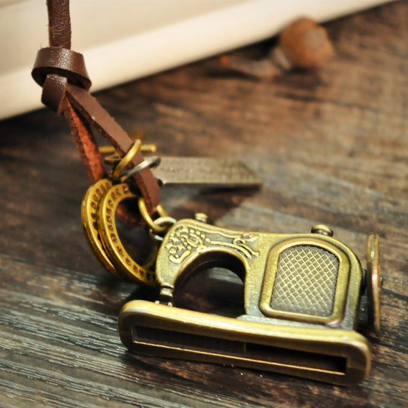 Boho Sewing Machine Necklace