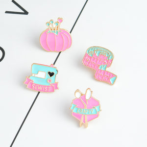 Quilters Pin Brooches - 4pcs