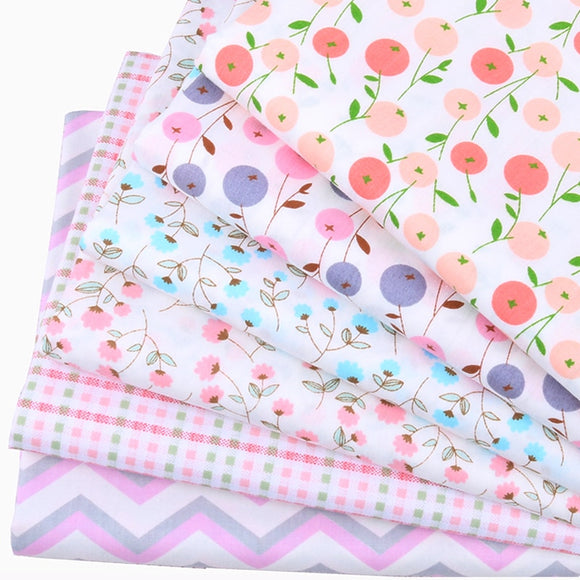 Baby Color Flower Twill Cotton Fabric - 7.90