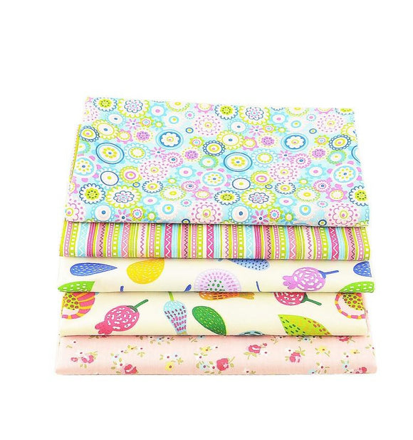Sweet Collection Twill Cotton Fabric - 40x50cm - 5pcs/Pack