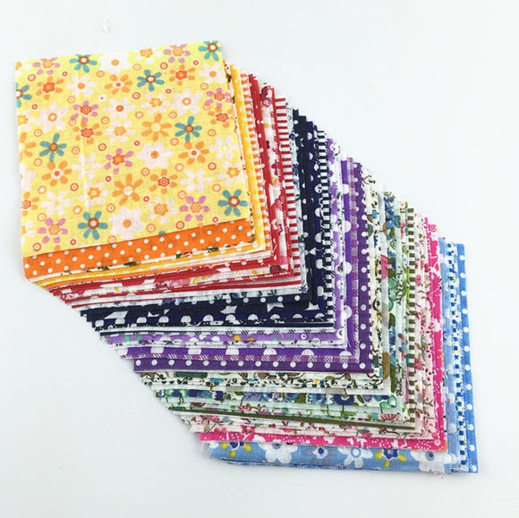 Random Color Square Fabric - 10x10cm - 30pcs