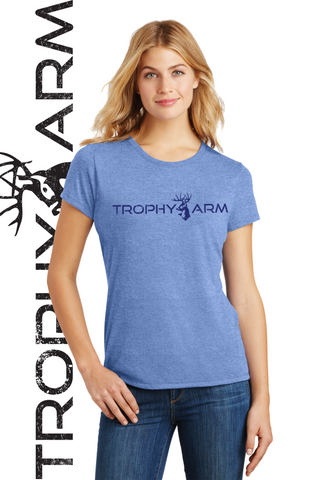 Ladies Heathered Blue Tee
