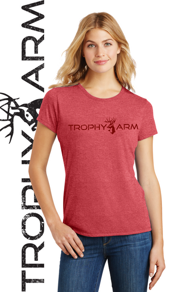 Ladies Heathered Red Tee