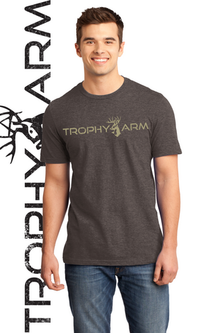 Men's Heathered Brown Tee