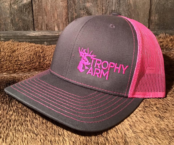 Charcoal/Neon Pink Hat
