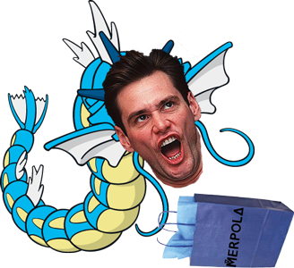 Merpola Gyarados Jim Carrey Pokemon