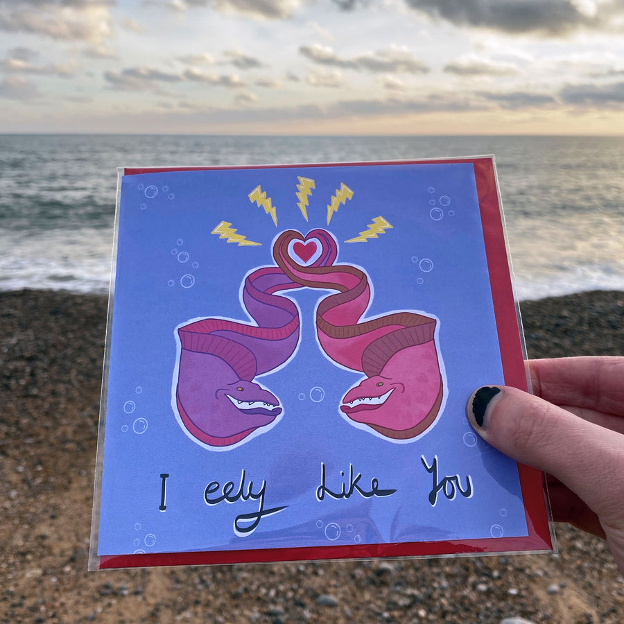 Greeting Card - I (Really) Eely Like You
