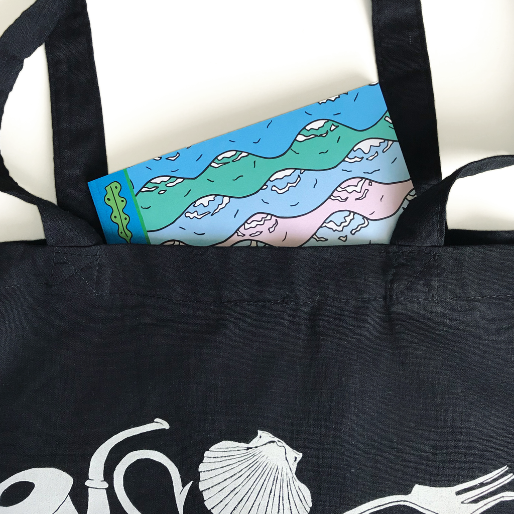 Merpola A4 Notebook Let Me See Your Doodle Product Image Dinglehopper Tote Bag
