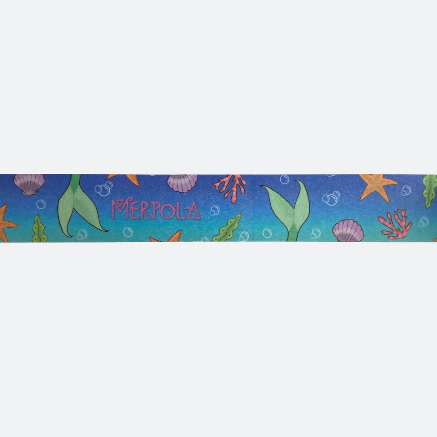 Washi Decoration Sticky Tape - 'Blue Mermaid Tail'