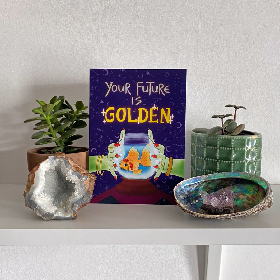 Greeting Card - Your Future Is Golden