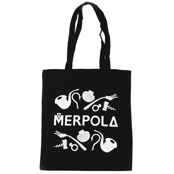 Ariels' Dinglehopper Tote Bag - Black Cotton - Merpola