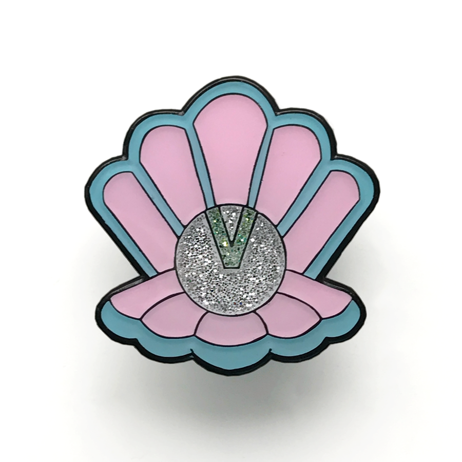 Clamshell Clan - Limited Edition Enamel Shell Pin - Merpola