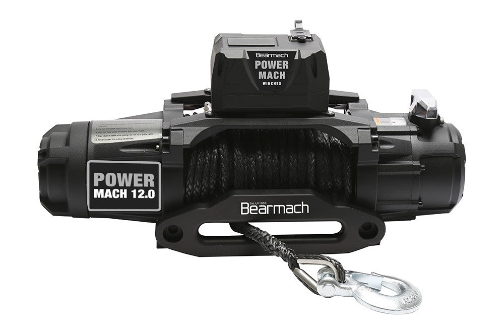 Power Mach 12,000lb 12v Two Speed Winch