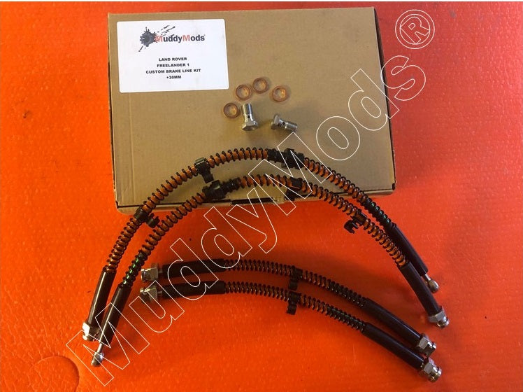 Freelander 1 Stainless Steel Braided +30mm Brake Hose Kit (1997-2006)