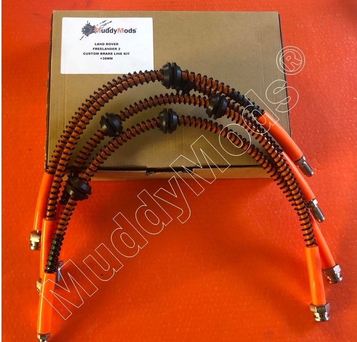 Stainless Steel Braided (+30mm) Brake Hose Kit Freelander 2 (2006+)