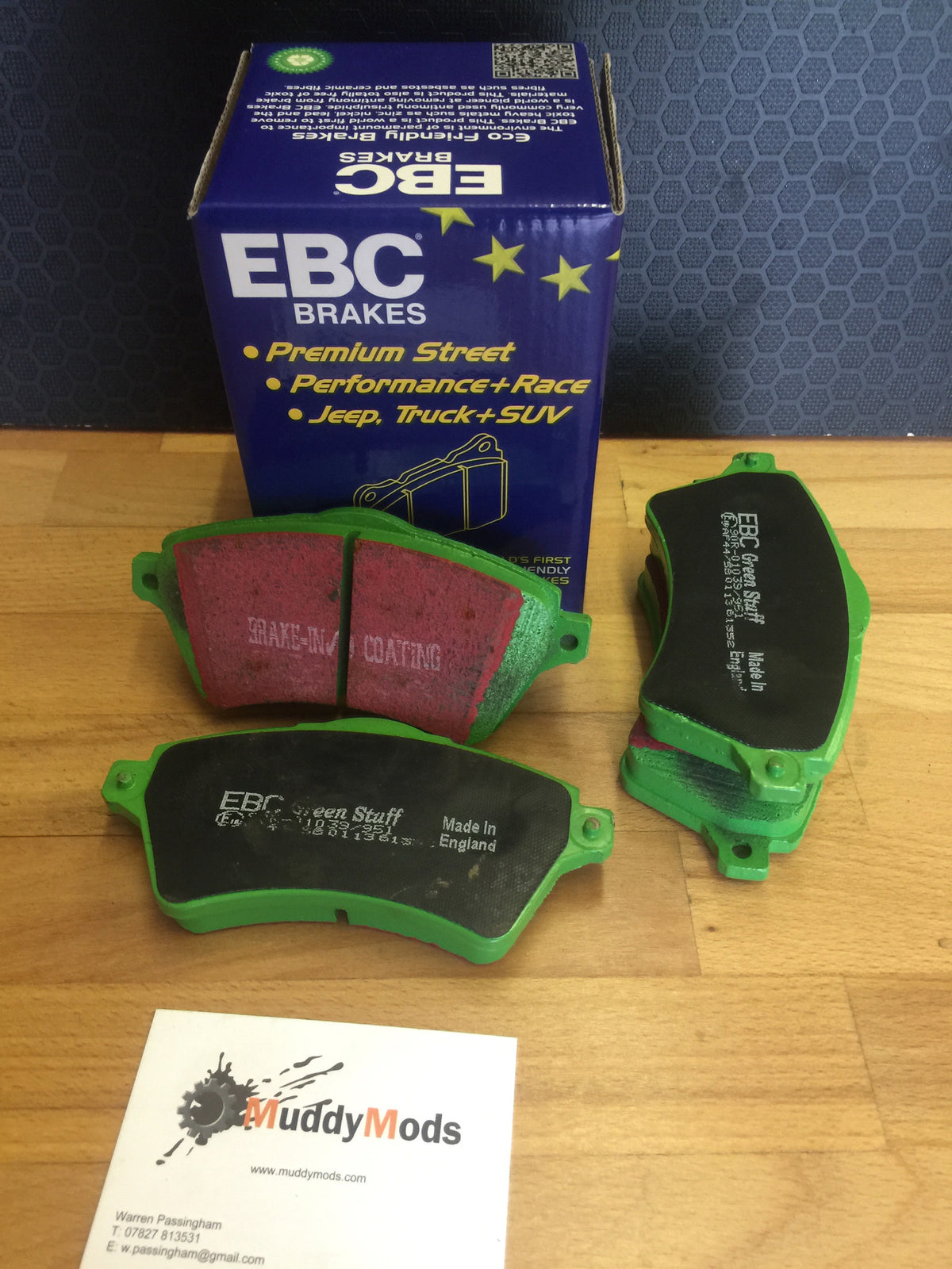 Freelander 1. EBC Greenstuff Pads. For Vented Discs