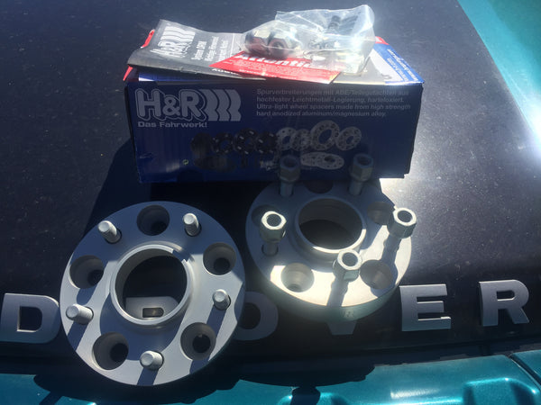 Freelander 2. H&R 25mm Wheel Spacer Kit. Set of FOUR. 108mm x5 pcd