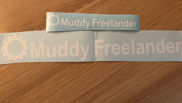 Muddy Freelander Sticker - WHITE