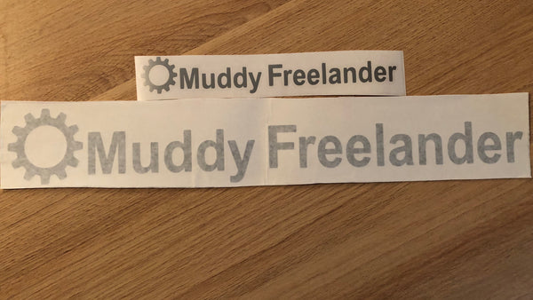 Muddy Freelander Sticker - SILVER