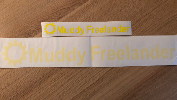 Muddy Freelander Sticker - YELLOW