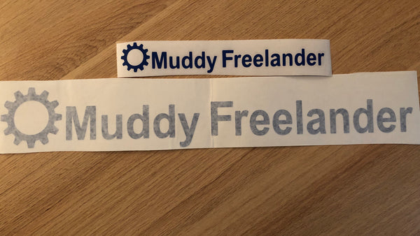 Muddy Freelander Sticker - BLUE