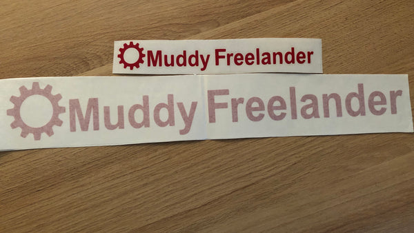 Muddy Freelander Sticker - RED