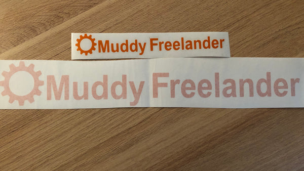 Muddy Freelander Sticker - ORANGE