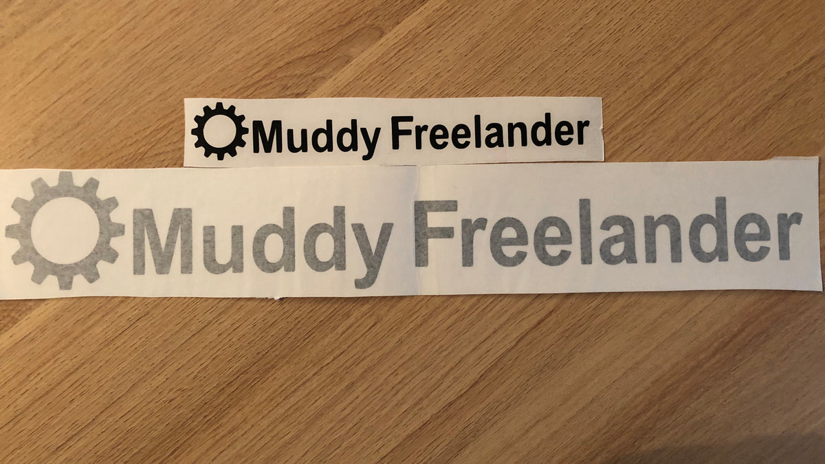 Muddy Freelander Sticker - BLACK