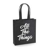 All The Things Elegant Felt Tote Bag - SimpleThingsCards