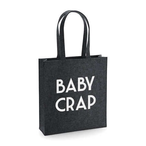 Baby Crap Funny Felt Tote Bag - SimpleThingsCards