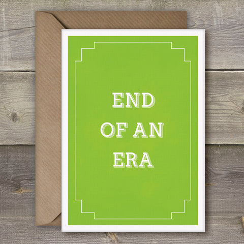 End of An Era - SimpleThingsCards