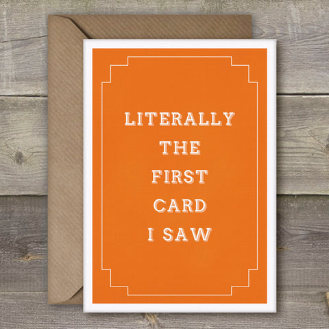 Literally The First Card I Saw - SimpleThingsCards