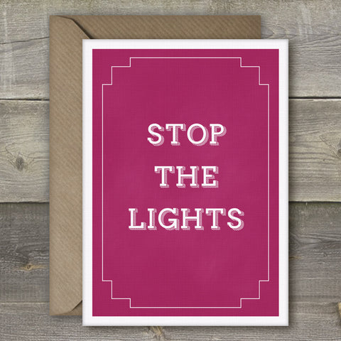 Stop The Lights - SimpleThingsCards